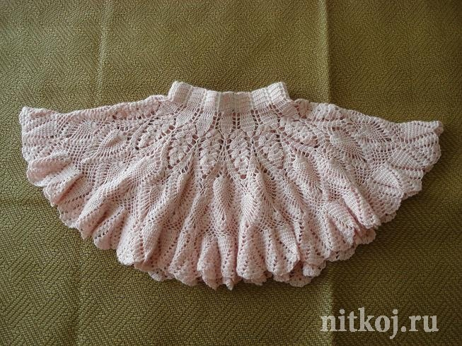 Вязаные пышные юбки крючком