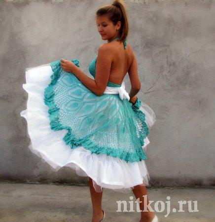 Платье: ткань и вязание