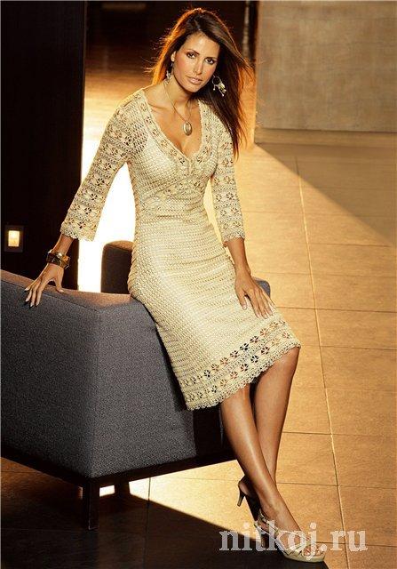 Платье крючком Karen Millen