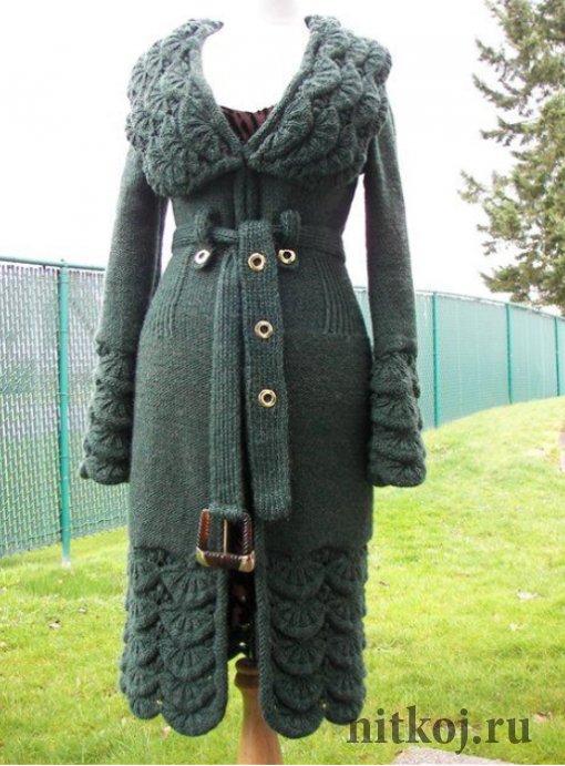 Пальто, Алсацийские гребешки спицами