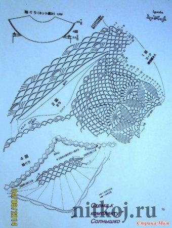 Юбка солнышко крючком схема
