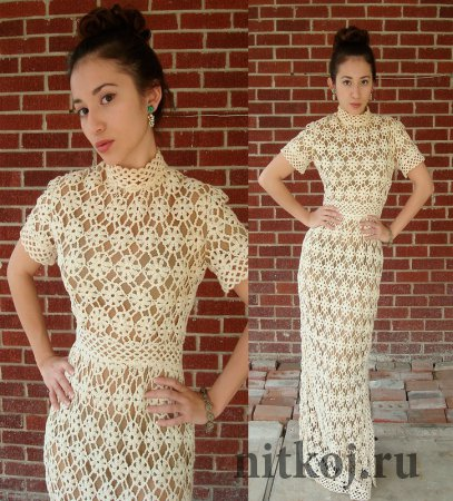 Платье из цветочных мотивов