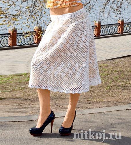 Красивая юбка крючком » Ниткой - вязаные вещи для вашего ...