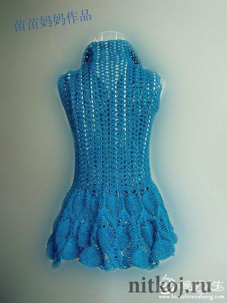 Платье с «ананасами» крючком