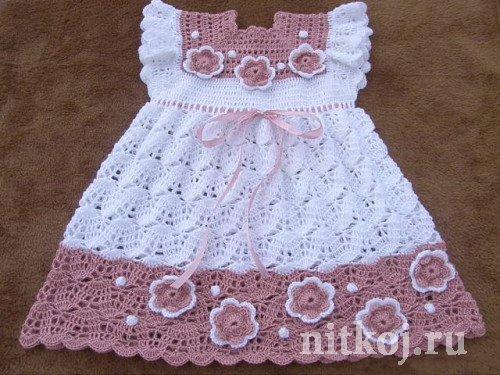 Детское платье крючком красивое