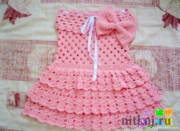 Платье девочке крючком
