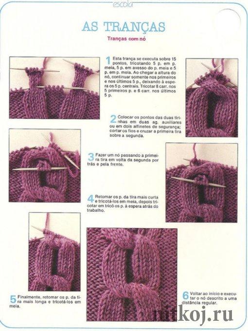 Стильный вязаный мужской шарф спицами схемы и 93