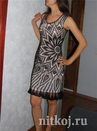 Платье крючком из салфеток