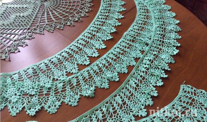 Вязание.кайма для юбки