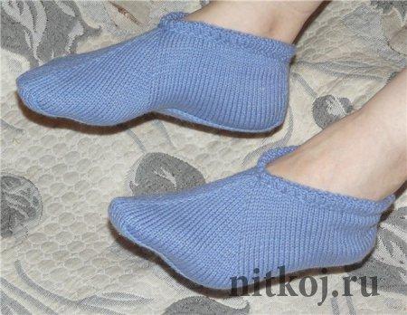 Носки-следки спицами