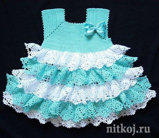 вязание юбочки крючком для девочки 3-4 лет схема