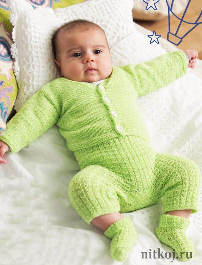 комплект спицами малышу ниткой вязаные вещи для вашего дома