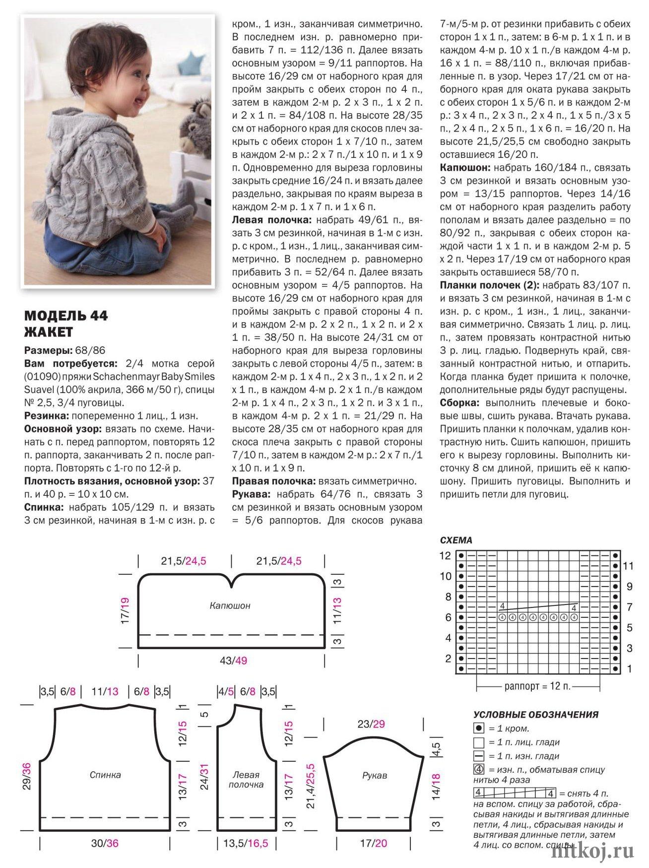Кардиган для мальчика 2 года спицами с описанием и схемами