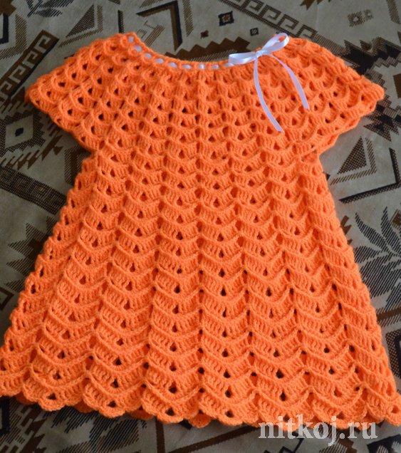 Летние платье «зефир» » ниткой вязаные вещи для вашего дома.