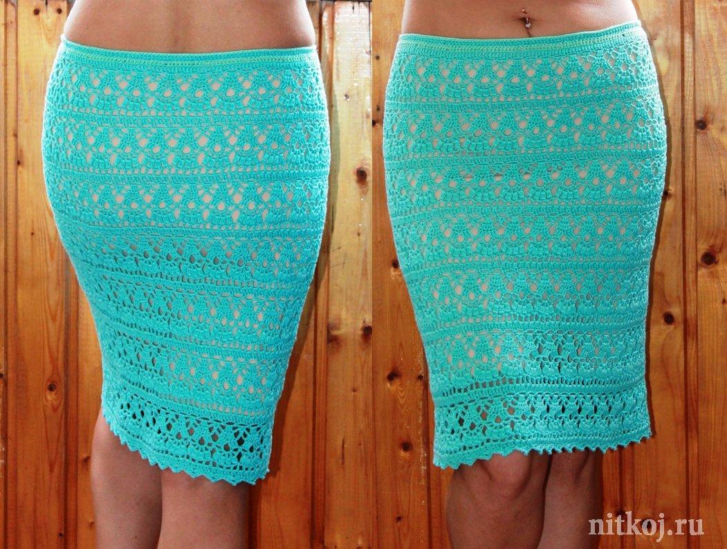 8e1af92a8aa Бирюзовая юбка крючком от Дарьи Шафоростовой » Ниткой - вязаные вещи ...