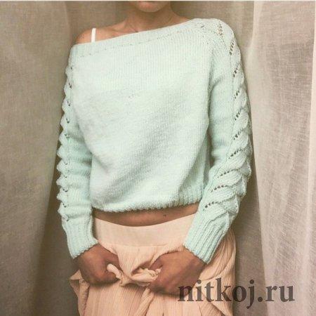 вяжем на спицах пуловеры женские
