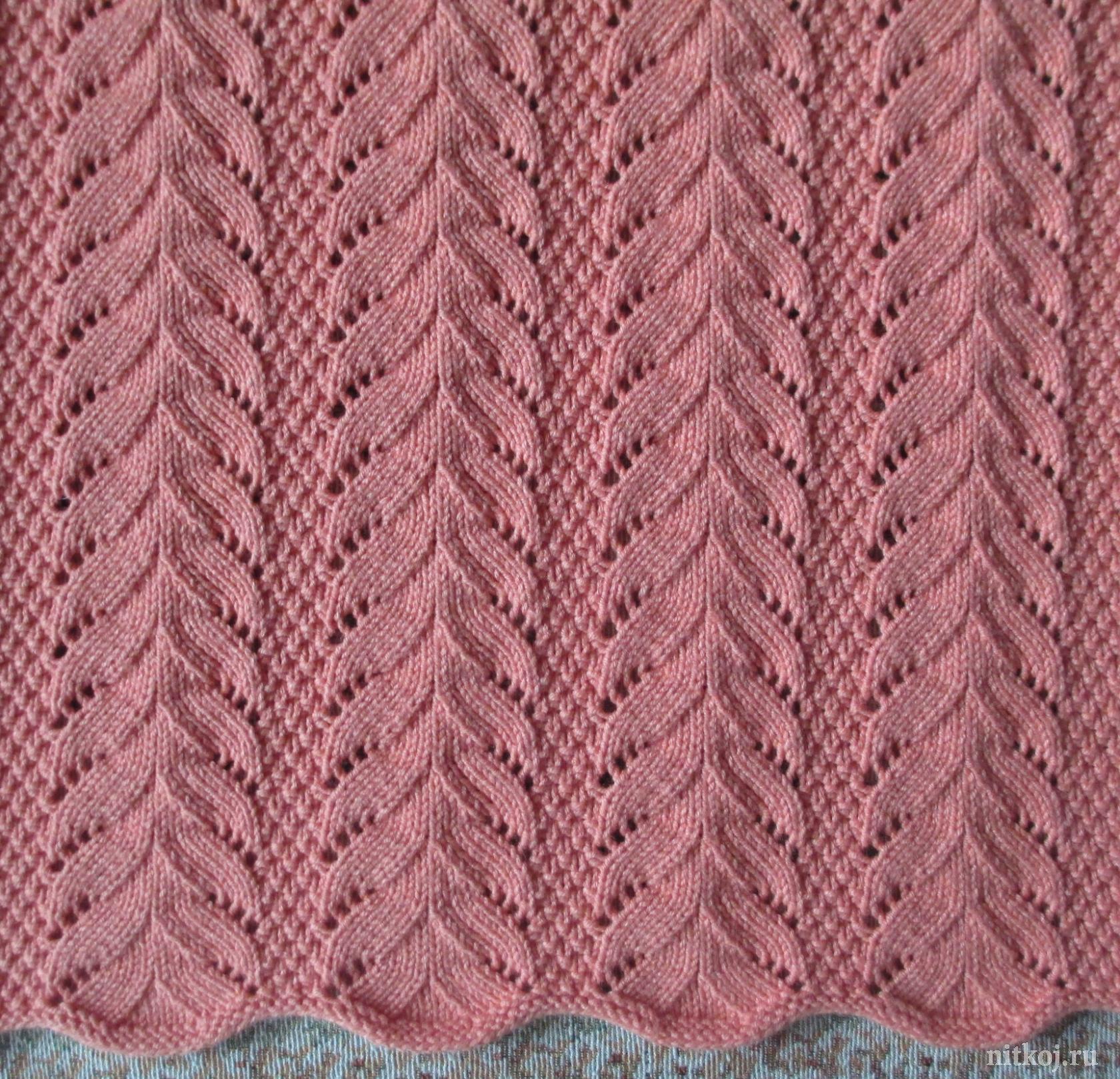 красивый узор спицами от светланы сафоновой ниткой вязаные вещи
