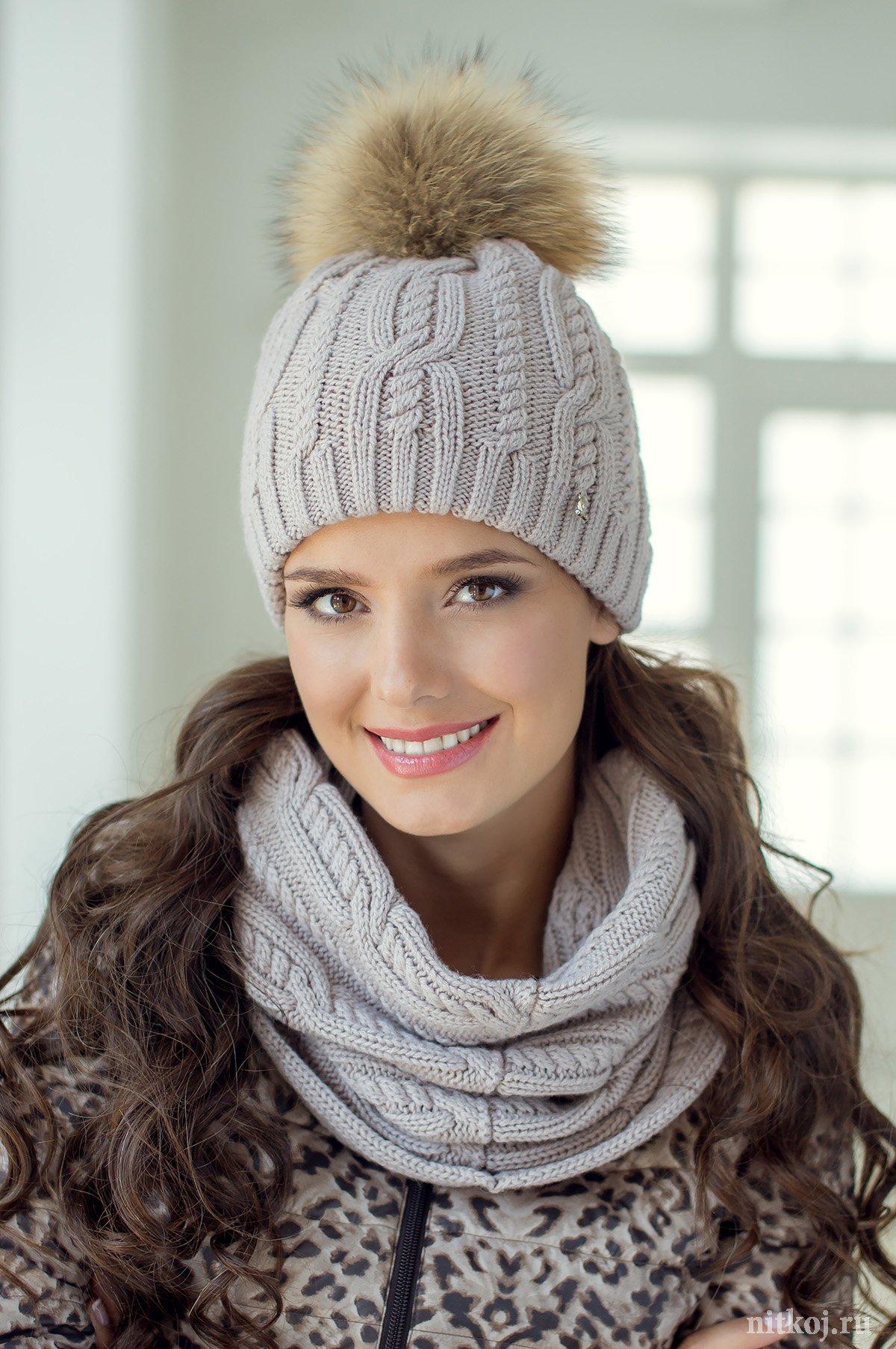 схема вязаной на спицах шапочки для 5 лет