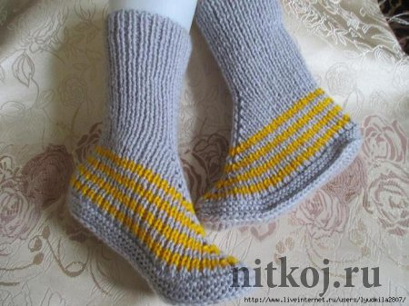 Носки на 2-х спицах от Надежды Токаренко