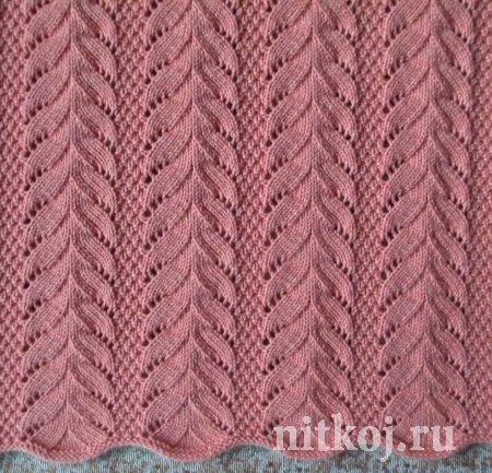Красивый узор спицами от Светланы Сафоновой