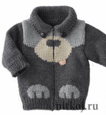 Идея для вязания детской курточки