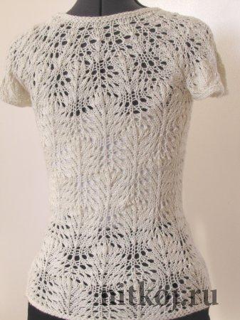 Пуловер с узором «Павлиный хвост»