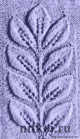 Кардиган спицами «Рельефные ветки»