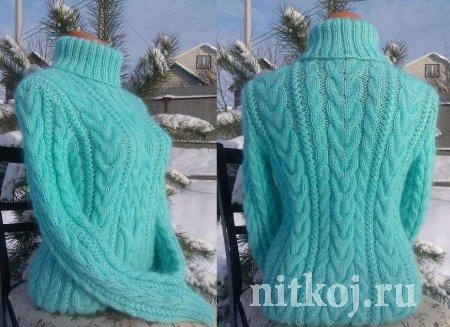 Вязанный свитер «Нежность»