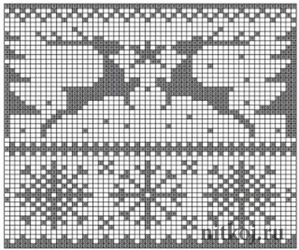Жаккардовые рисунки и схемы вязания на спицах 153