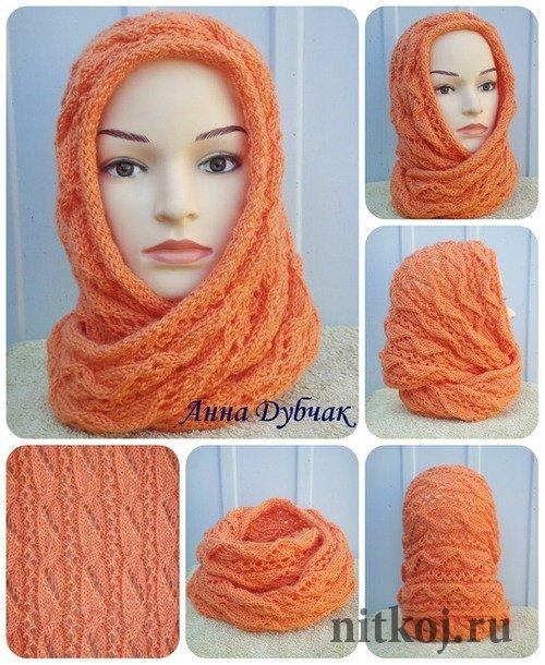 шарф снуд палантин ниткой вязаные вещи для вашего дома