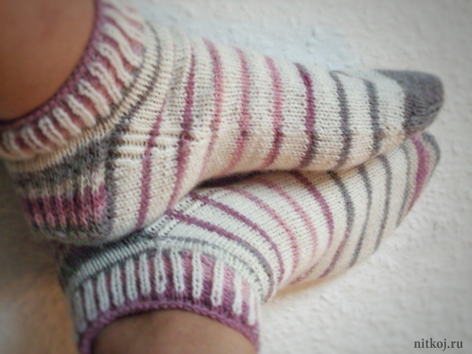 Вязание носков укрепление пятки 84