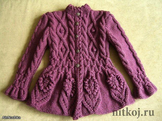 пальто курточки ниткой вязаные вещи для вашего дома вязание
