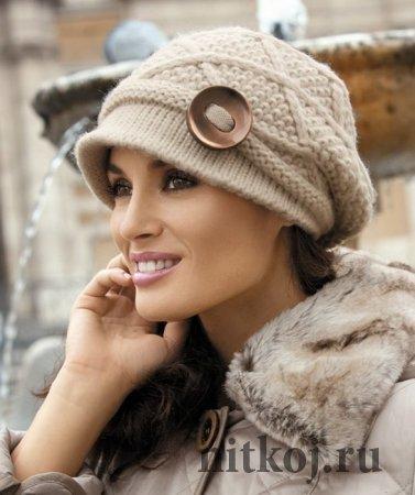 Стильная шапка-козырек